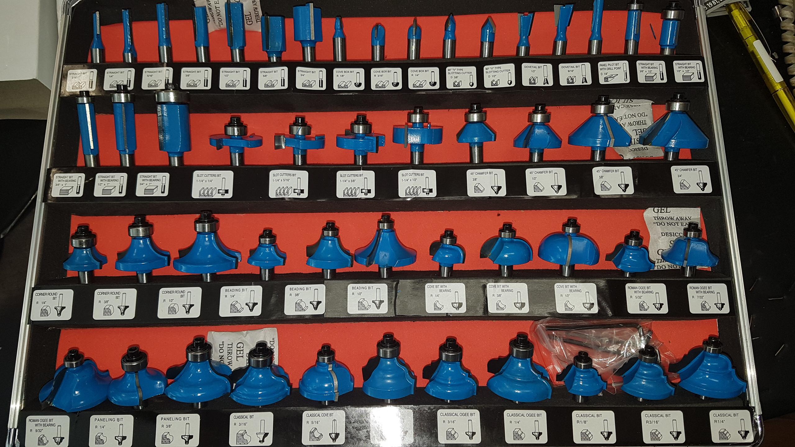 f5d4c4dac972c Sada fréz 8 mm stopka, 50 dielna | Náradie, BOSCH, MAKITA ...