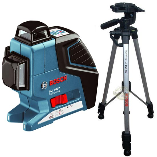 BOSCH GLL 3-80 P + BS 150 Professional