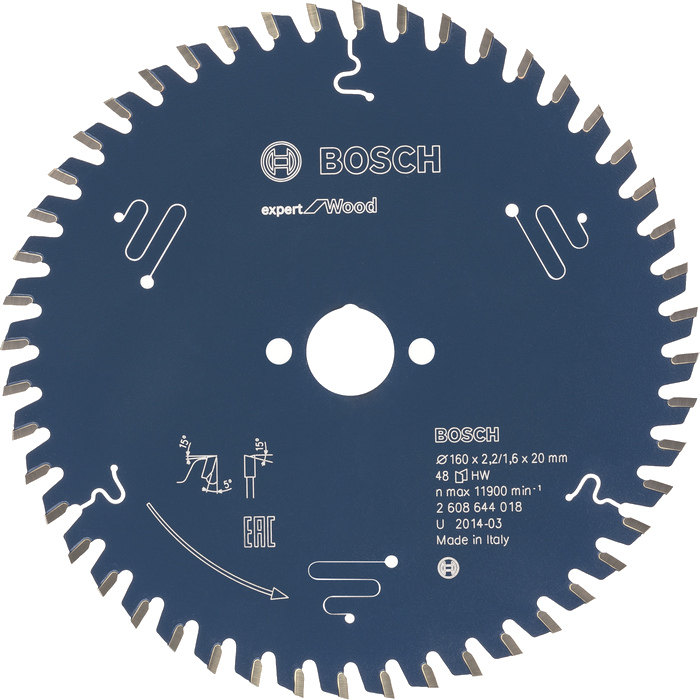 BOSCH Expert for Wood 160x2,2x20 48z