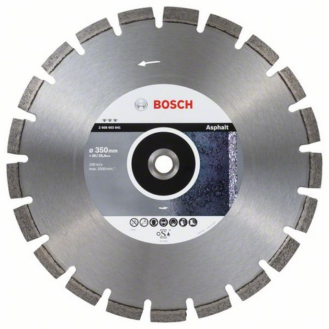 BOSCH Best for Asphalt 350x20/25,4mm