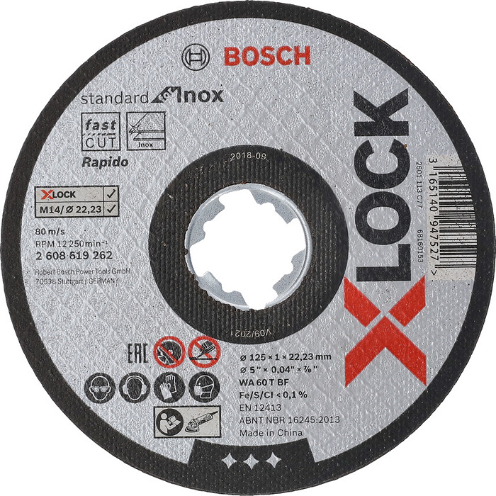 BOSCH X-LOCK Standard for Inox 125mm