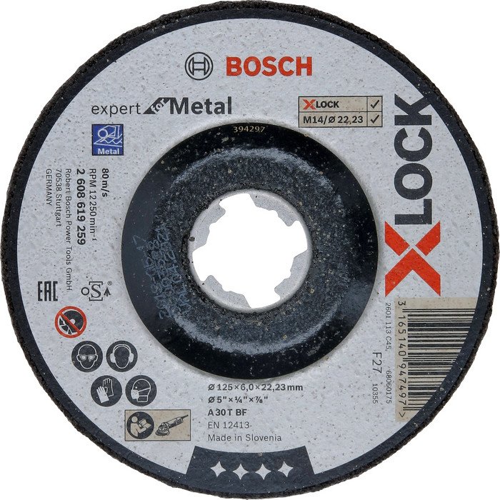 BOSCH X-LOCK Expert for Metal 125mm